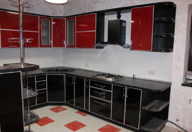 Кухни с фасадами МДФ пластик глянец