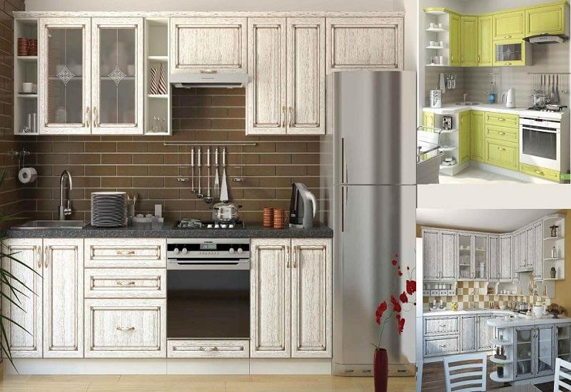 кухня София классика шпон патина